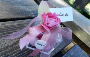 Scatolina con confetti maxtris sfumato rosa