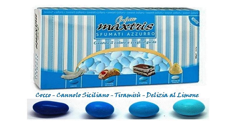 Confetti Maxtris sfumato azzurro