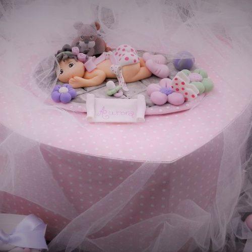 Bomboniere e cake topper hand made per il battesimo