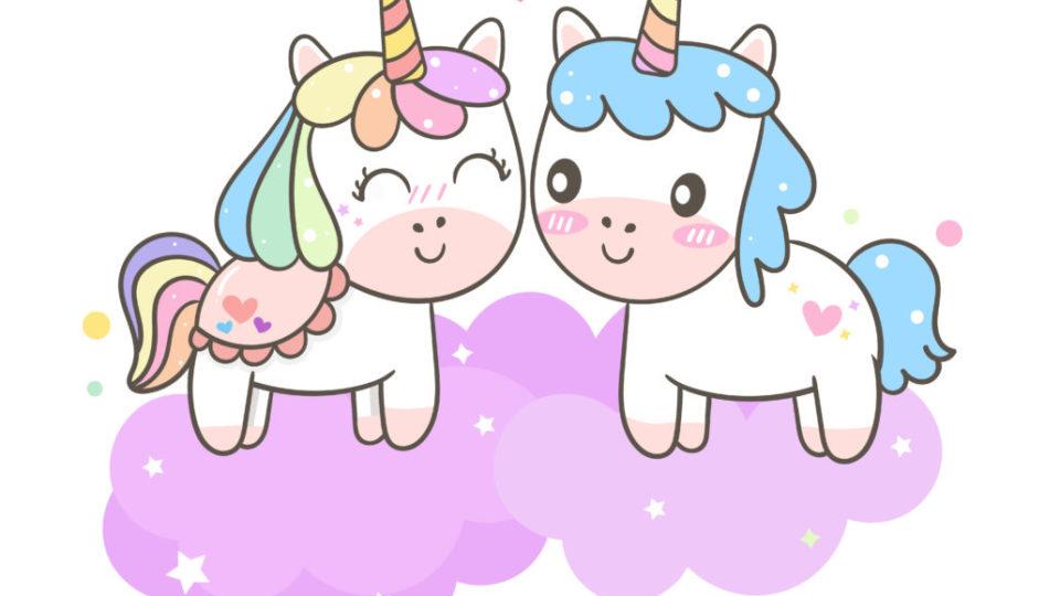coppia unicorni innamorati