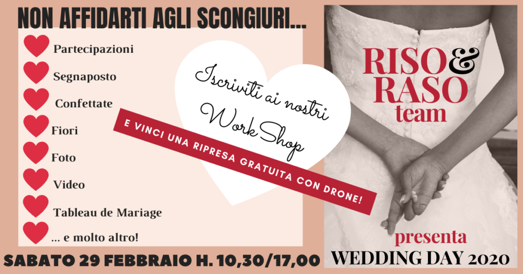 Non affidarti agli scongiuri evento wedding day 2020 OK