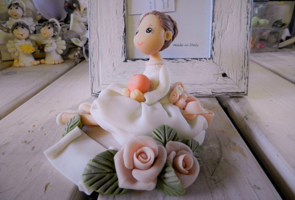 Cake Topper 6 Bimba delicata con cuore – Copia