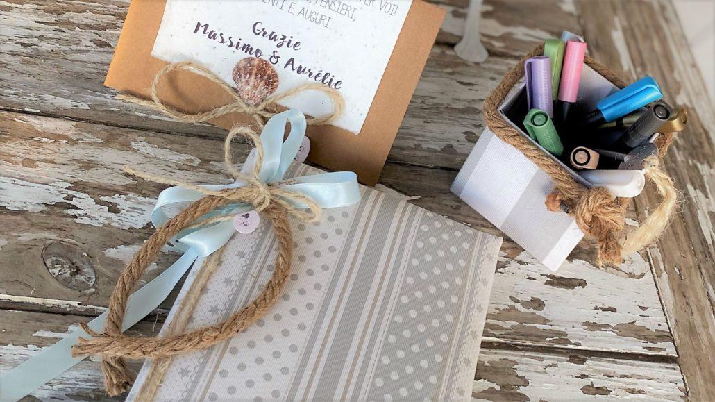 lilibro delle firme e dei ricordi, matrimonio a tema mare - RISO e RASO