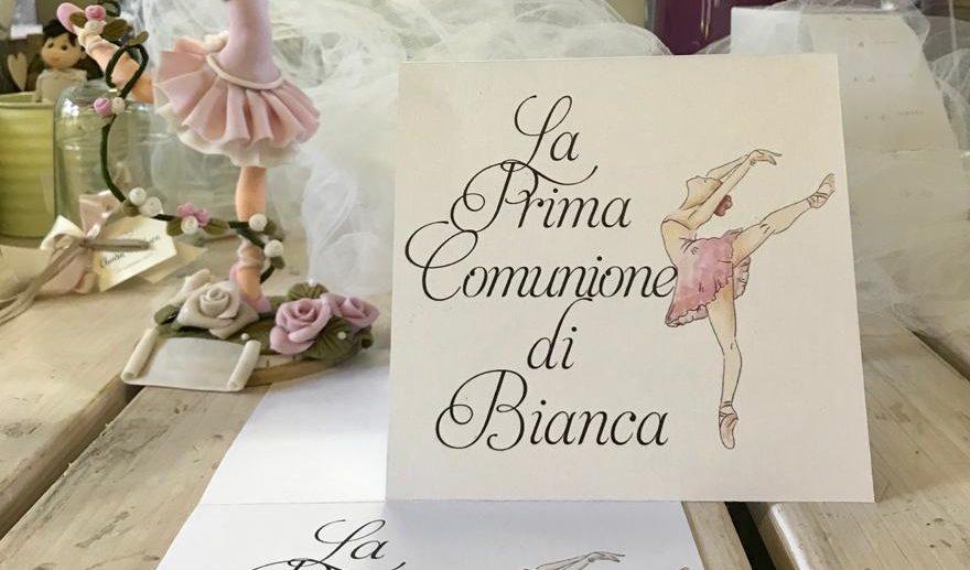 decorazione tavolo bomboniere - prima comunione - ballerina