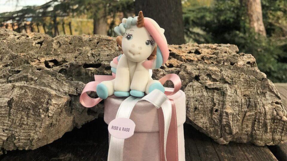 battesimo unicorno scatolina